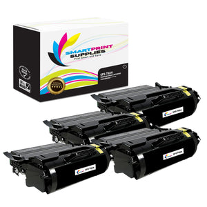 4 Pack Lexmark T654 Replacement Black Toner Cartridge by Smart Print Supplies