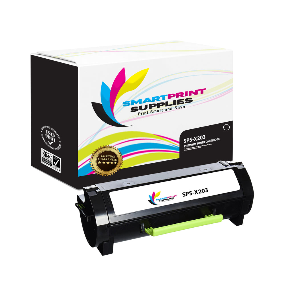 Lexmark X203 Replacement Black Toner Cartridge by Smart Print Supplies