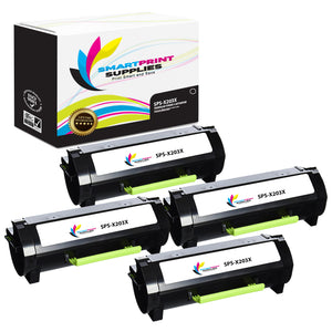 4 Pack Lexmark X203A21G Replacement Black Toner Cartridge by Smart Print Supplies