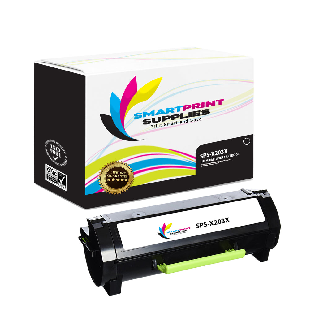 Lexmark X203A21G Replacement Black Toner Cartridge by Smart Print Supplies