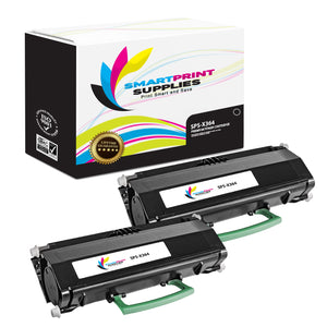 2 Pack Lexmark X364 Replacement Black Toner Cartridge by Smart Print Supplies
