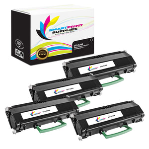 4 Pack Lexmark X364 Replacement Black Toner Cartridge by Smart Print Supplies