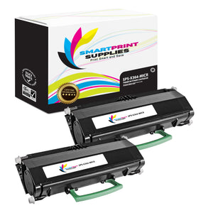 2 Pack Lexmark X364 Replacement Black MICR Toner Cartridge by Smart Print Supplies