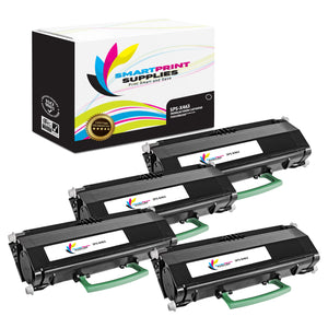 4 Pack Lexmark X463 Replacement Black Toner Cartridge by Smart Print Supplies