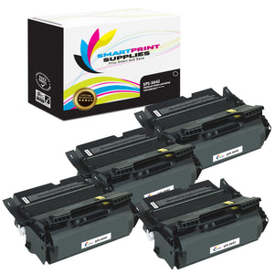 4 Pack Lexmark X642 Replacement Black Toner Cartridge by Smart Print Supplies