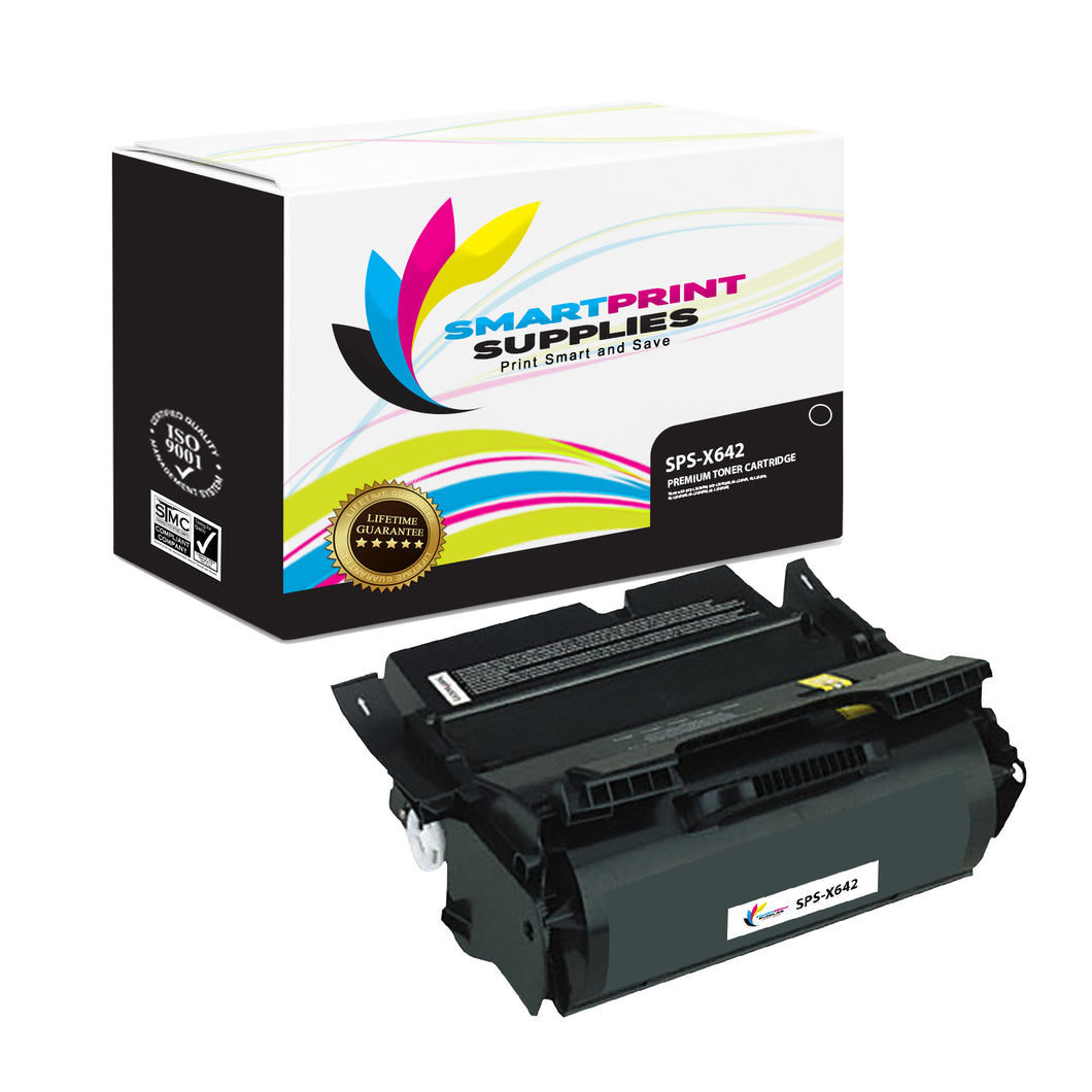 Lexmark X642 Replacement Black Toner Cartridge by Smart Print Supplies