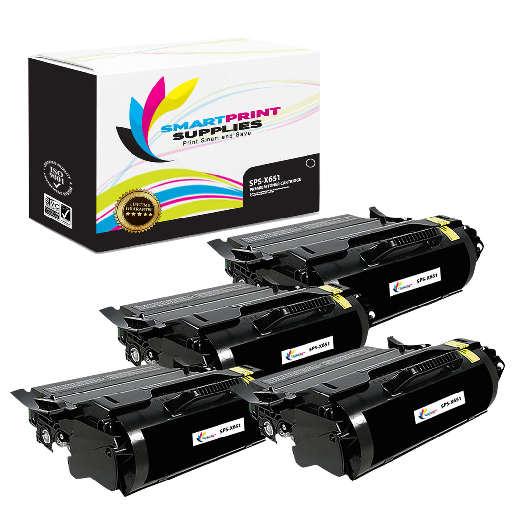 Lexmark X651 Replacement Black Toner Cartridge by Smart Print Supplies /7000 Pages