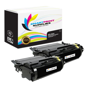 2 Pack Lexmark X654X11A Replacement Black Toner Cartridge by Smart Print Supplies