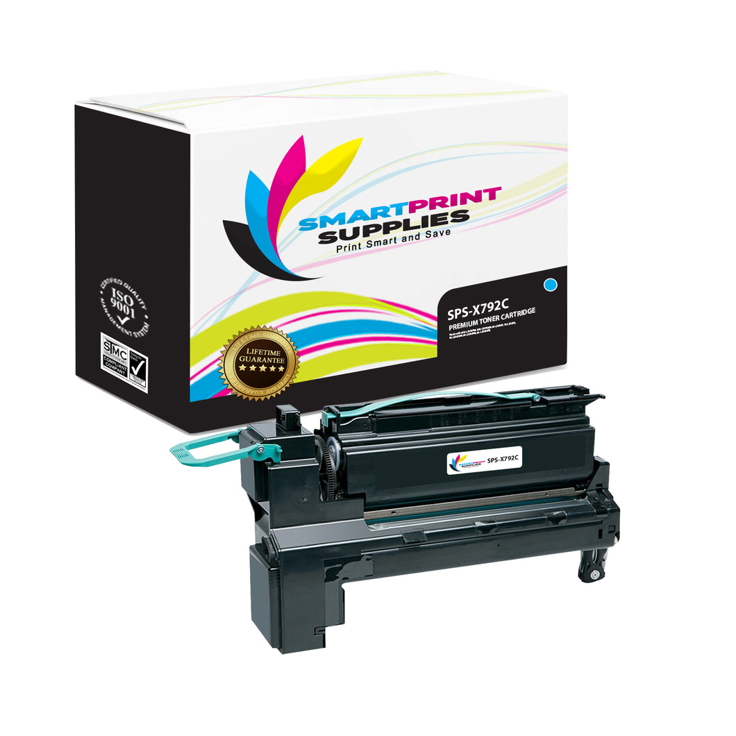 Lexmark X792 Replacement Cyan Toner Cartridge by Smart Print Supplies