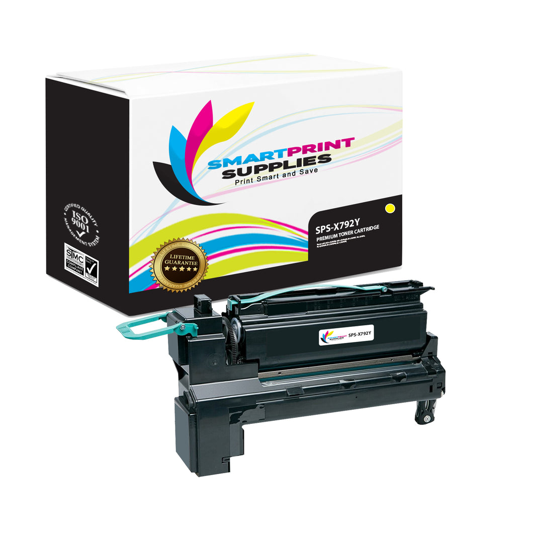 Lexmark X792 Replacement Yellow Toner Cartridge by Smart Print Supplies