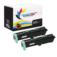 2 Pack Lexmark X860 Replacement Black Toner Cartridge by Smart Print Supplies