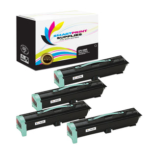 4 Pack Lexmark X860 Replacement Black Toner Cartridge by Smart Print Supplies