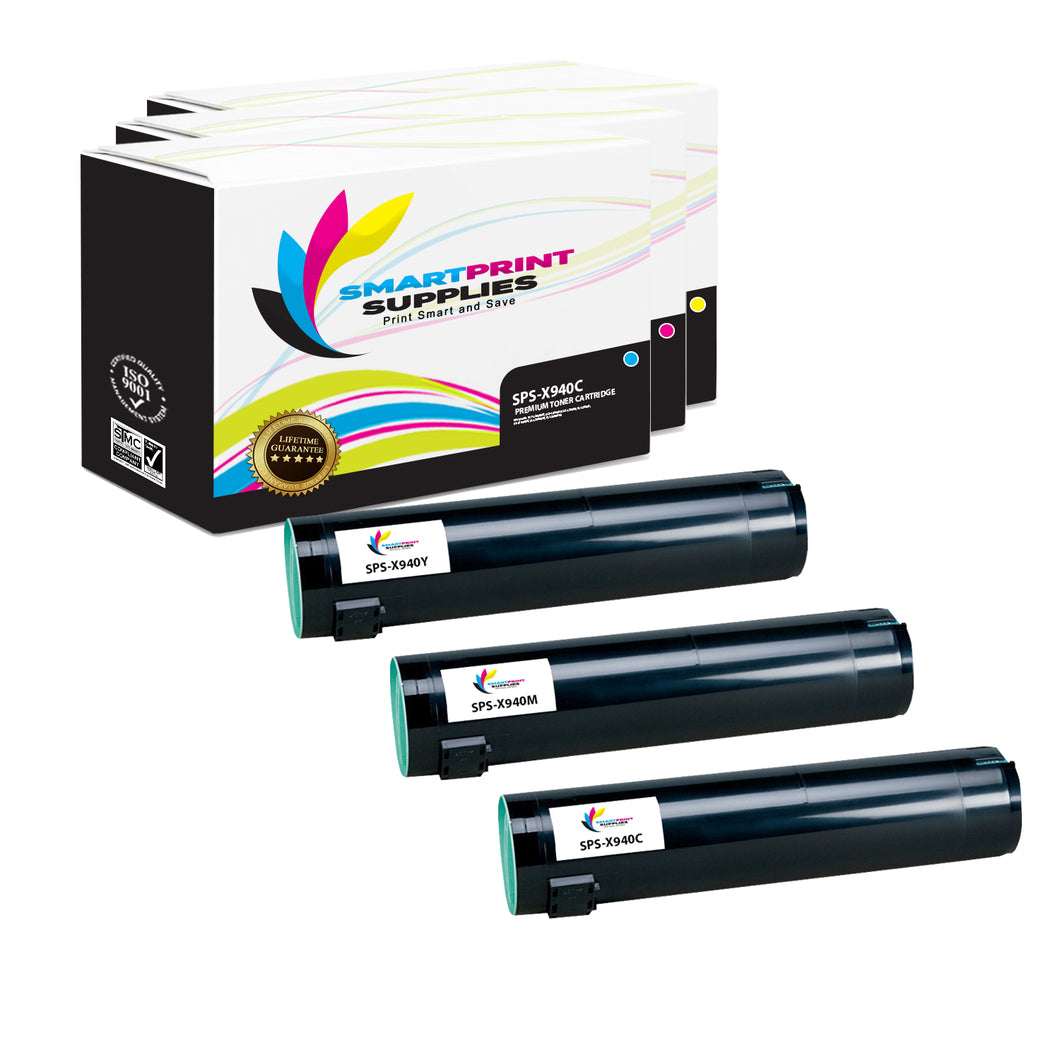 3 Pack Lexmark X940 Replacement (CMY) Toner Cartridge by Smart Print Supplies