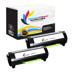 2 Pack Lexmark XM7155 Replacement Black Toner Cartridge by Smart Print Supplies