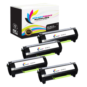4 Pack Lexmark XM7155 Replacement Black Toner Cartridge by Smart Print Supplies