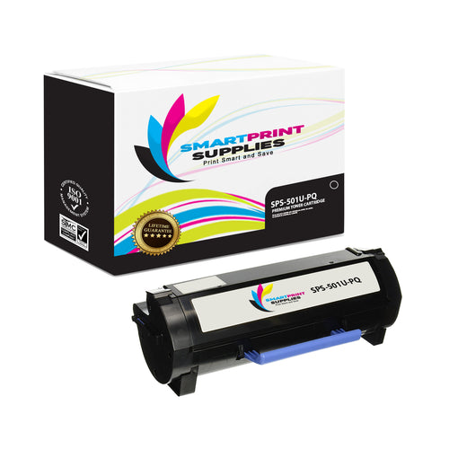 Lexmark 501U Replacement Black Toner Cartridge by Smart Print Supplies