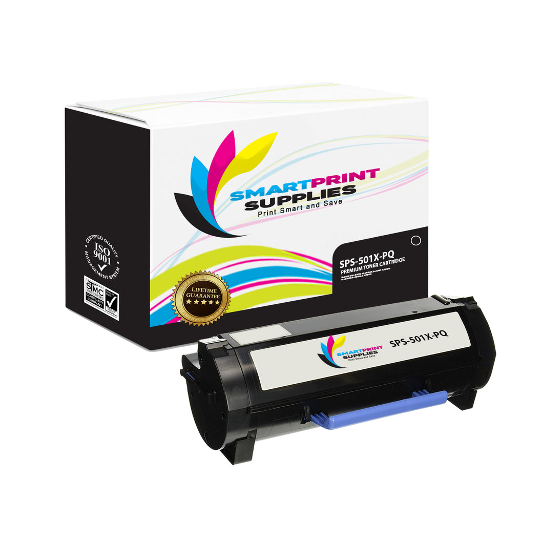 Lexmark 501X Replacement Black Toner Cartridge by Smart Print Supplies