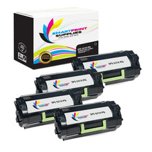 4 Pack Lexmark 521X Replacement Black Toner Cartridge by Smart Print Supplies
