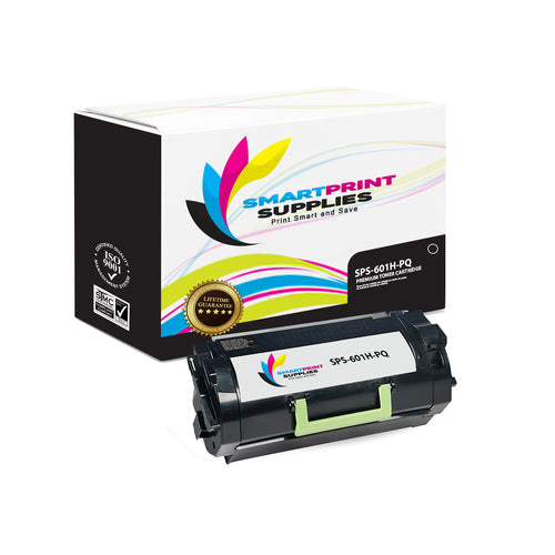Lexmark 601H Replacement Black Toner Cartridge by Smart Print Supplies