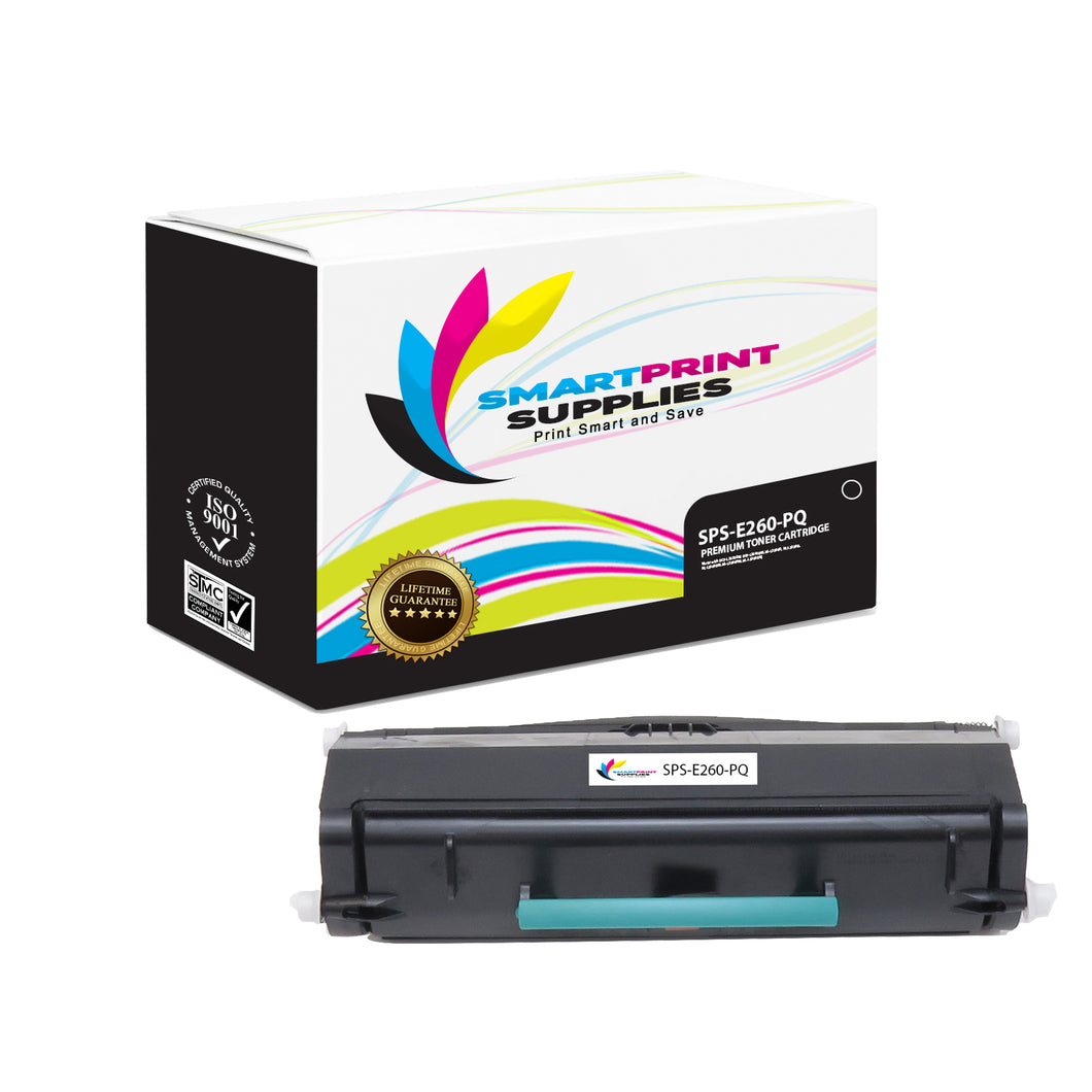 Lexmark E260 Replacement Black Toner Cartridge by Smart Print Supplies
