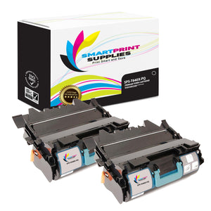 2 Pack Lexmark T640X Replacement Black Toner Cartridge by Smart Print Supplies