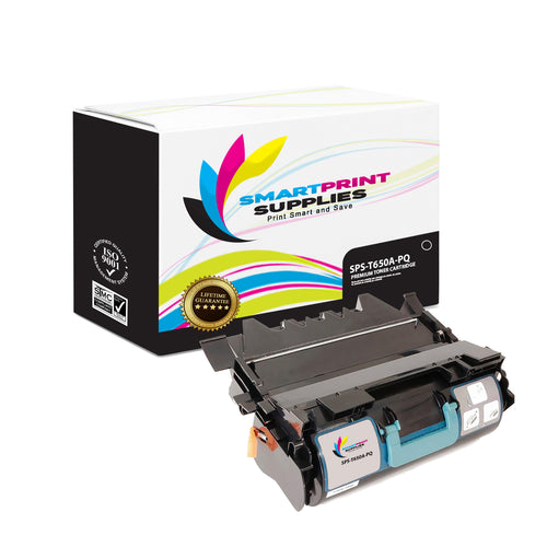 Lexmark T650A Replacement Black Toner Cartridge by Smart Print Supplies