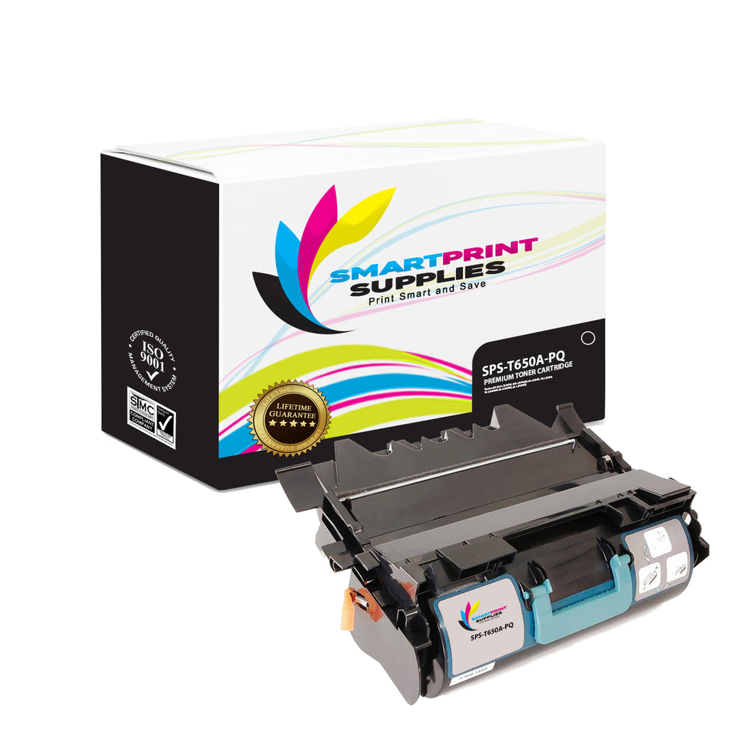 Lexmark T650A Replacement Black Toner Cartridge by Smart Print Supplies /7000 Pages