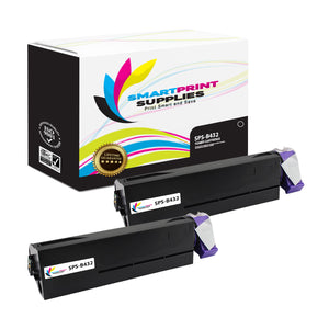 2 Pack Okidata B432 Black Toner Cartridge Replacement By Smart Print Supplies