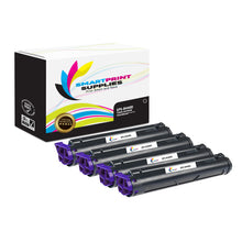 4 Pack Okidata B4400 Black Toner Cartridge Replacement By Smart Print Supplies