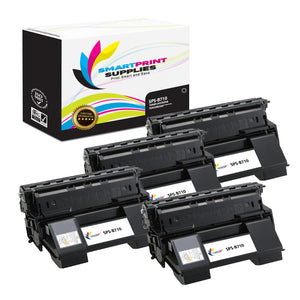 4 Pack Okidata B710 Black Toner Cartridge Replacement By Smart Print Supplies