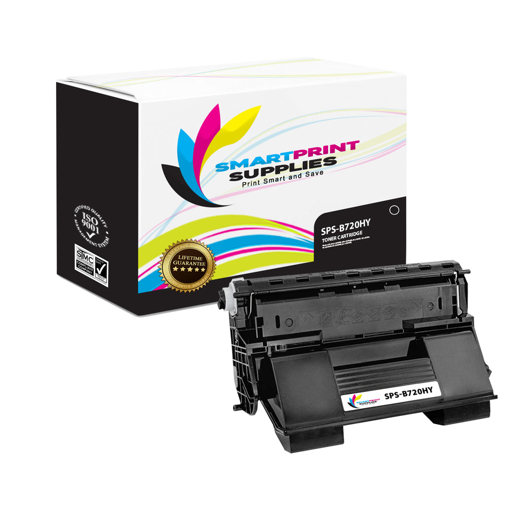 1 Pack Okidata B720 Black High Yield Toner Cartridge Replacement By Smart Print Supplies