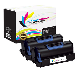 2 Pack Okidata B721 Black Toner Cartridge Replacement By Smart Print Supplies