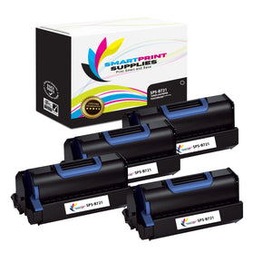 4 Pack Okidata B721 Black Toner Cartridge Replacement By Smart Print Supplies