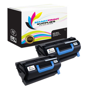 2 Pack Okidata B731 Black Toner Cartridge Replacement By Smart Print Supplies