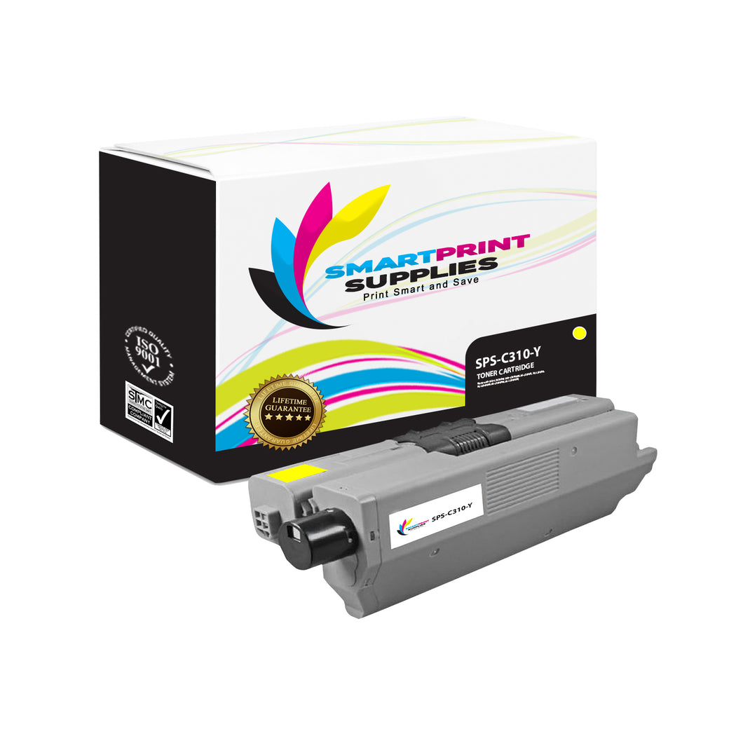 1 Pack Okidata C310 Yellow Toner Cartridge Replacement By Smart Print Supplies