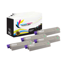 5 Pack Okidata C610 4 Colors Toner Cartridge Replacement By Smart Print Supplies