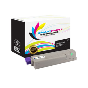 1 Pack Okidata C610 Black Toner Cartridge Replacement By Smart Print Supplies