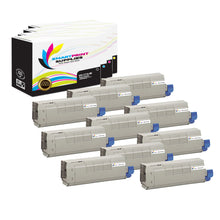 10 Pack Okidata C710 4 Colors Toner Cartridge Replacement By Smart Print Supplies