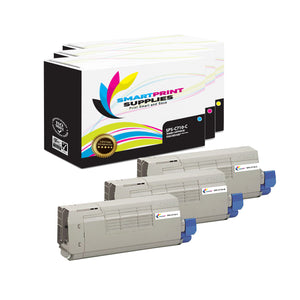 3 Pack Okidata C710 3 Colors Toner Cartridge Replacement By Smart Print Supplies