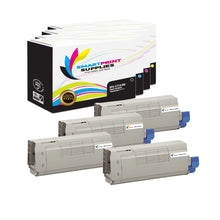 4 Pack Okidata C710 4 Colors Toner Cartridge Replacement By Smart Print Supplies