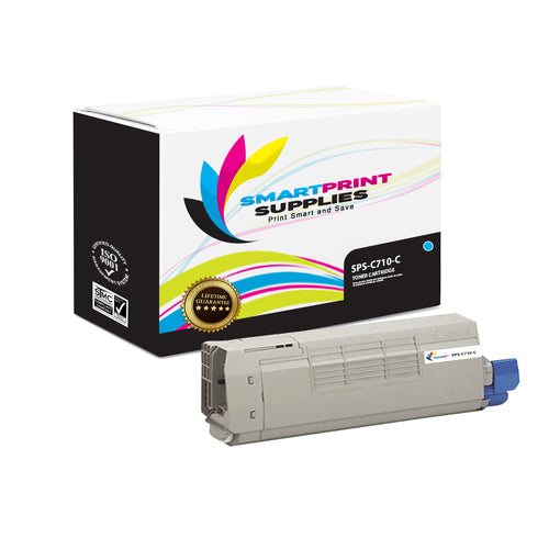 1 Pack Okidata C710 Cyan Toner Cartridge Replacement By Smart Print Supplies