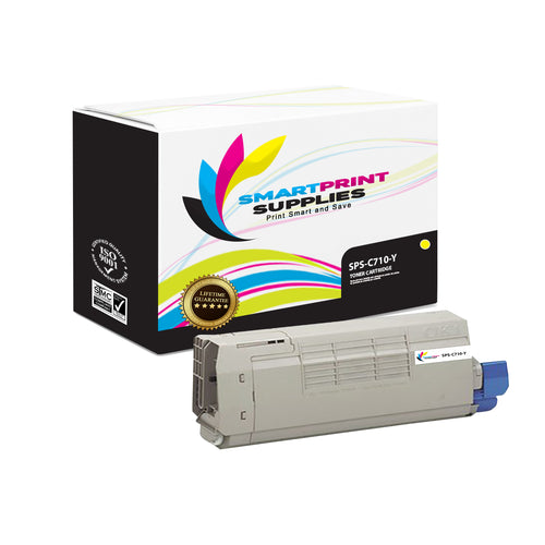 1 Pack Okidata C710 Yellow Toner Cartridge Replacement By Smart Print Supplies