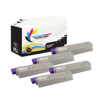 5 Pack Okidata C9600 4 Colors Toner Cartridge Replacement By Smart Print Supplies