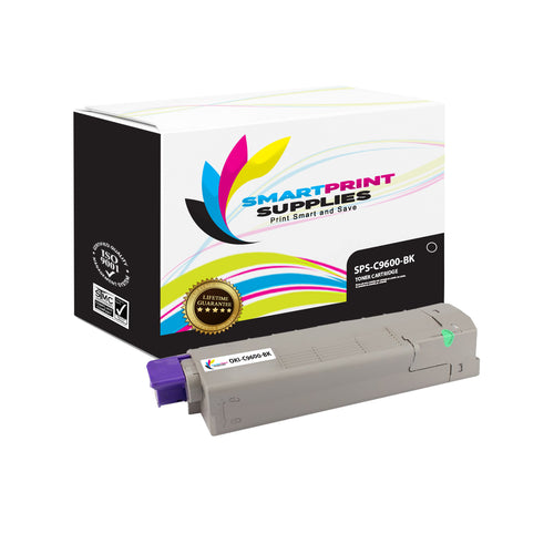 1 Pack Okidata C9600 Black Toner Cartridge Replacement By Smart Print Supplies