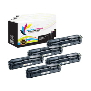 5 Pack Samsung CLP415 4 Colors Toner Cartridge Replacement By Smart Print Supplies