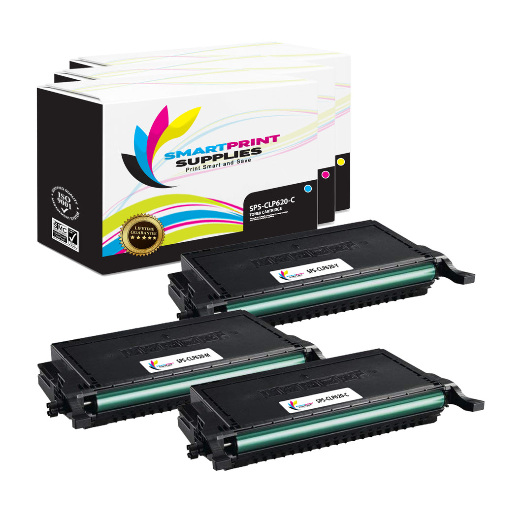 3 Pack Samsung CLT508 3 Colors High Yield Toner Cartridge Replacement By Smart Print Supplies