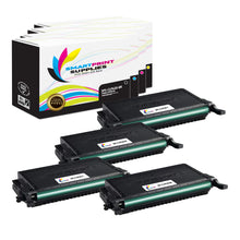4 Pack Samsung CLT508 4 Colors High Yield Toner Cartridge Replacement By Smart Print Supplies