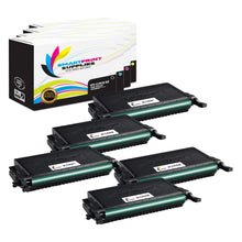 5 Pack Samsung CLT508 4 Colors High Yield Toner Cartridge Replacement By Smart Print Supplies