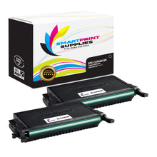2 Pack Samsung CLP660 Black Toner Cartridge Replacement By Smart Print Supplies