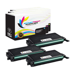 3 Pack Samsung CLP660 3 Colors Toner Cartridge Replacement By Smart Print Supplies